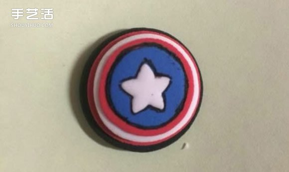 超輕粘土美國隊長教程 可愛美國隊長手工製作
