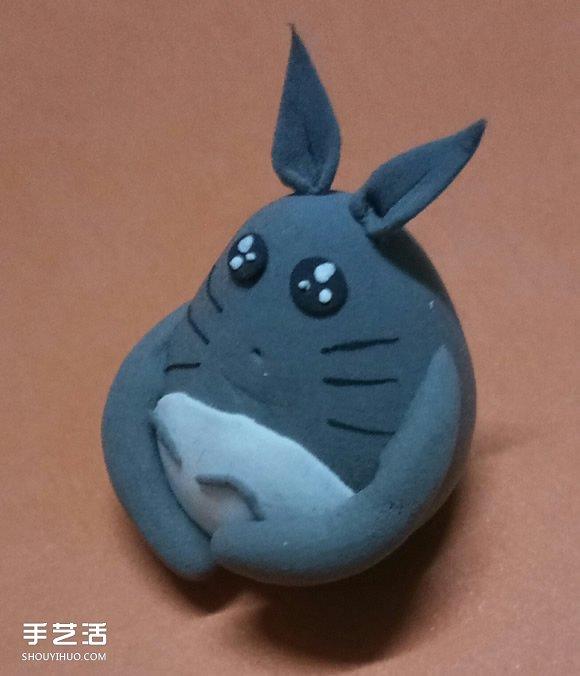 怎麼用超輕粘土做龍貓 超輕粘土龍貓教程圖解