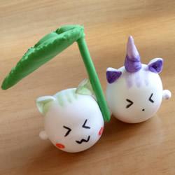 怎样制作粘土打伞的小猫 超轻粘土卡通猫咪DIY