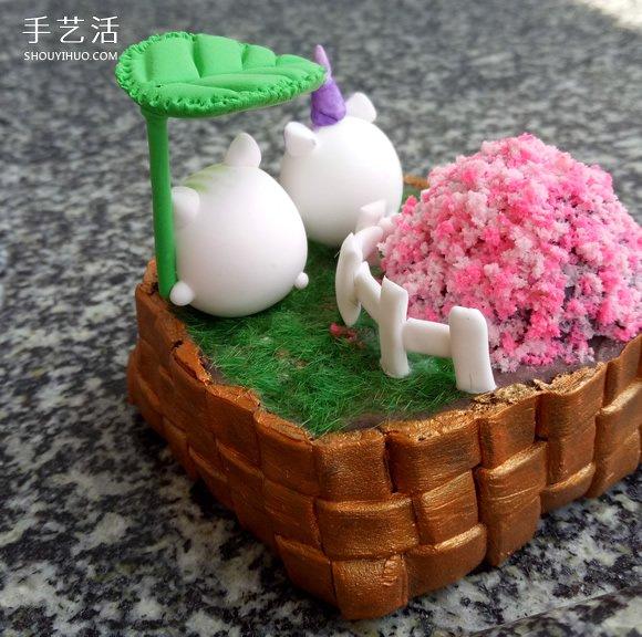超輕粘土製作小院子 迷你院子裝飾品粘土DIY
