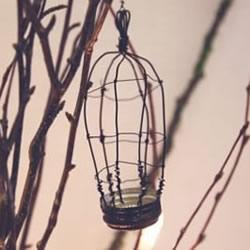 瓶盖制作鸟笼挂饰的方法 简单铁丝小鸟笼DIY制作