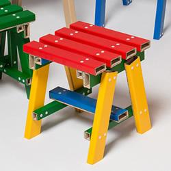 五颜六色自由搭!韩国PESI重新诠释硬纸板家具