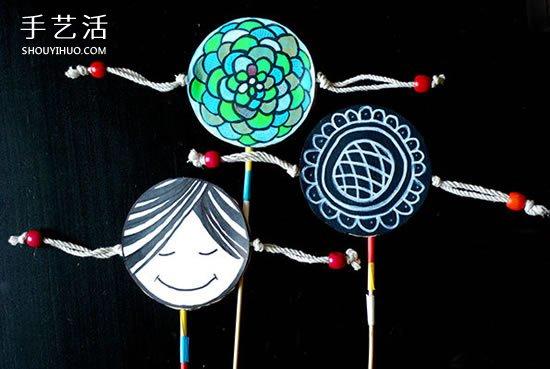 幼儿拨浪鼓玩具的做法 自制拨浪鼓的制作方法 -  www.shouyihuo.com