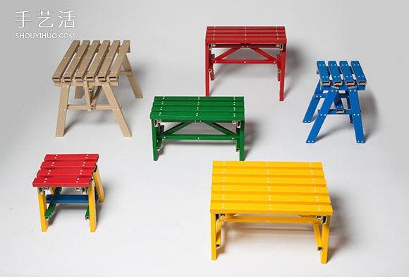 五颜六色自由搭!韩国PESI重新诠释硬纸板家具 -  www.shouyihuo.com