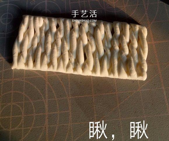 冬天保暖帽子粘土制作 超轻粘土毛线帽DIY图解 -  www.shouyihuo.com