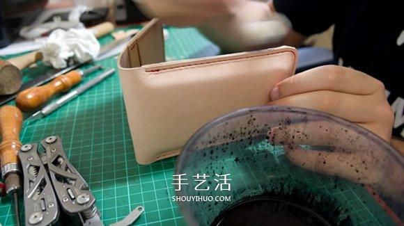带卡包功能手机套DIY 自制皮革卡包手机套教程 -  www.shouyihuo.com