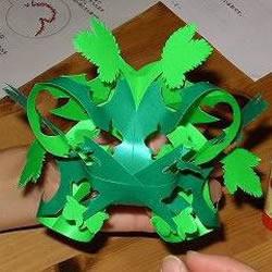 简单挂饰的剪纸方法 绿荫剪纸的折法和步