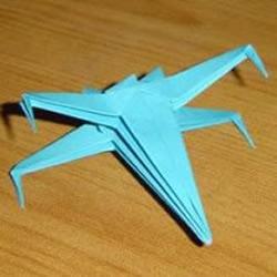 X翼战斗机折纸方法 怎么折X翼战斗机图解