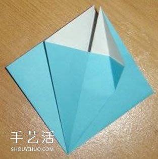 X翼战斗机折纸方法 怎么折X翼战斗机图解 -  www.shouyihuo.com