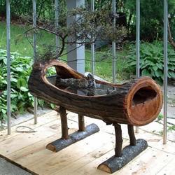 原木树桩制作山水盆景 自制树桩山水盆景方法