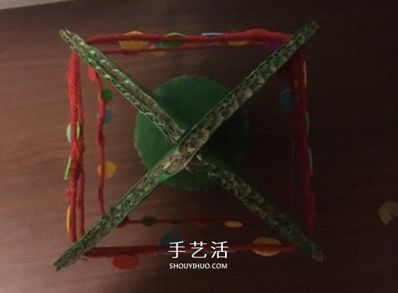 自製大聖誕樹的方法 瓦楞紙製作大立體聖誕樹