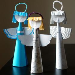 怎么剪纸制作天使挂饰 小天使的做法图解