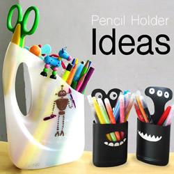 废物利用塑料瓶做笔筒 卡通小怪物笔筒DIY方法
