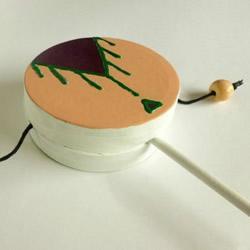 简易拨浪鼓的制作方法 手工拨浪鼓的做法图解