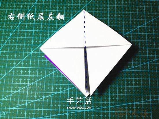 立體小汽車的折法圖解 手工摺紙汽車的折法