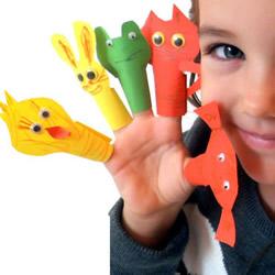 小动物手偶玩具制作 幼儿动物手偶的做法图解