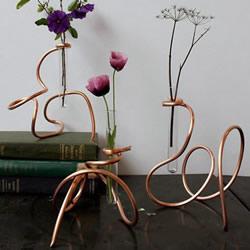 黄铜管和玻璃试管DIY制作优雅的花瓶图解