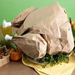 牛皮纸袋制作火鸡模型 简单感恩节纸火鸡做法