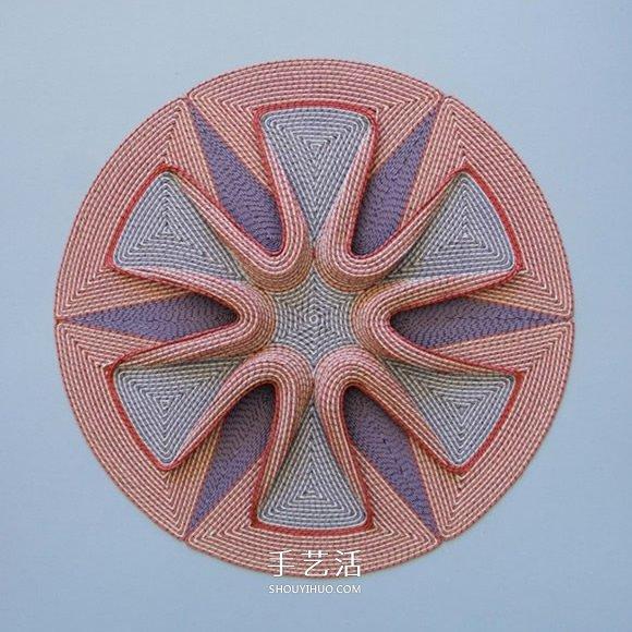 交错纵横的几何纸编作品 一起进入冥想时间吧! -  www.shouyihuo.com