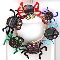 幼儿园万圣节蜘蛛制作 简单硬纸板蜘蛛的做法