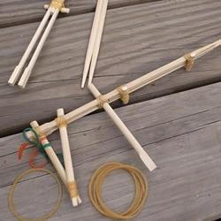 竹筷枪怎么做图解图纸 用一次性筷子做枪教程