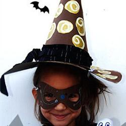 自制女巫帽的方法图解 万圣节幼儿女巫帽做法