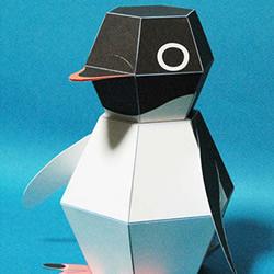 Kamikara纸机关 平面企鹅折纸一秒变立体