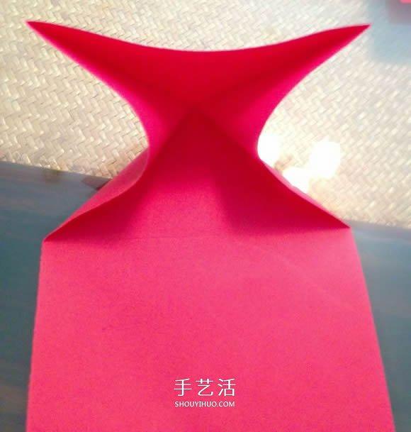 心花怒放爱心的折法 折纸心花怒放图解教程 -  www.shouyihuo.com