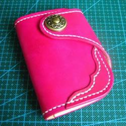 Redmoon皮革卡包制作 自制女用皮革钥匙包教程