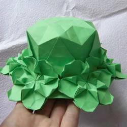 漂亮草帽子的折法图解 折纸花草帽的方法步骤