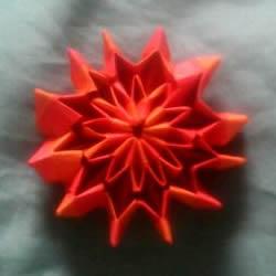 手工纸烟花的折法图解 折纸烟花的方法步