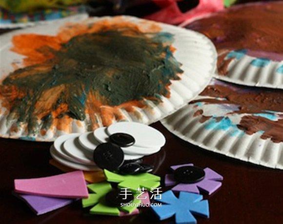 纸餐盘手工小制作 做成可爱的猫头鹰挂饰 -  www.shouyihuo.com