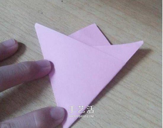 六瓣百合花折纸图解 折纸六瓣百合的方法教程 -  www.shouyihuo.com