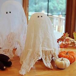 纱布做万圣节幽灵的方法 简单可爱幽灵