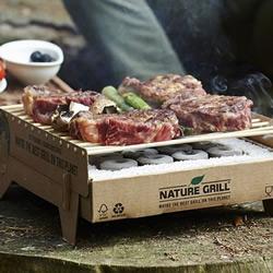 这样烤肉比较环保 纸与竹子制作的抛弃式烤炉