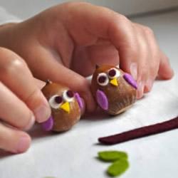 橡子手工制作猫头鹰 简单橡子猫头鹰的做法