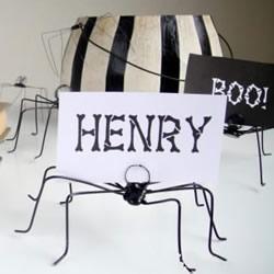 万圣节蜘蛛便签夹DIY 铁丝手工制作可爱小蜘蛛