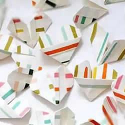 幼儿折纸爱心的图解教程 简单又可爱桃心