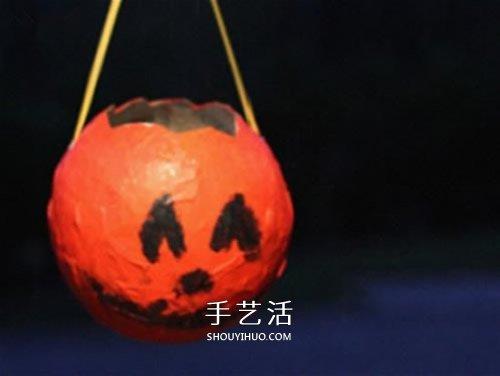 废报纸做南瓜灯的方法 信善幼小男南瓜灯创造教养程 -  www.shouyihuo.com