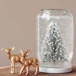 自制雪景玻璃瓶的方法 浪漫雪景摆饰DI