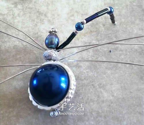 手工串珠蜘蛛的做法 串珠蜘蛛工藝品DIY製作