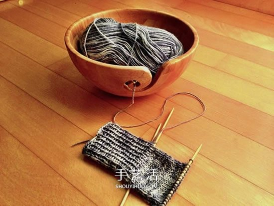 实用竹碗改造小制作 让毛线编织变得更简单! -  www.shouyihuo.com