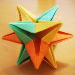 圣诞星折法图解教程 折纸圣诞星的方法步