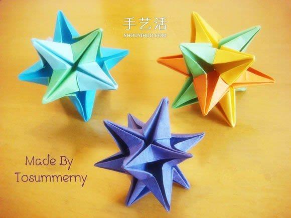 圣诞星折法图解教程 折纸圣诞星的方法步骤