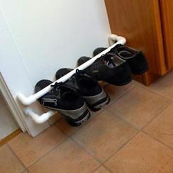 PVC管制作鞋架的方法 自制PVC管鞋架图解