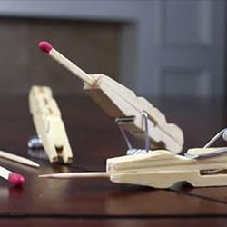 自制木夹子玩具枪的方法 木夹子DIY制作玩具枪