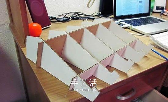 瓦楞紙做筆記本散熱架 自製電腦散熱支架方法