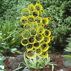 PVC管制作园艺雕塑教程 自制PVC管雕塑的方法