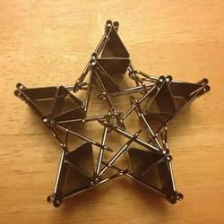 长尾票夹做立体五角星 DIY票夹五角星图解