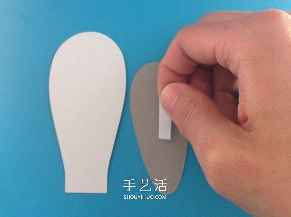 兔子帽子手工步骤图解 卡纸手工制作兔子帽子 -  www.shouyihuo.com